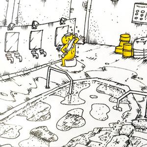 温泉イラスト「オンセンサン」ポストカード(KN・フォトフレーム付き)