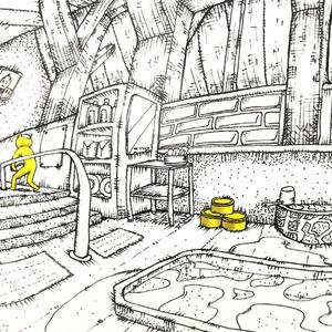 温泉イラスト「オンセンサン」ポストカード(IM・フォトフレーム付き)