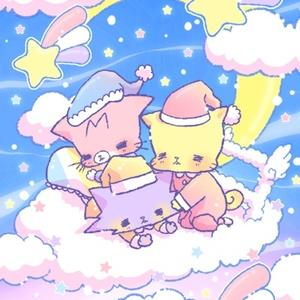 おにゃんこポストカード【おやすみファンタジー】