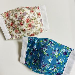 【立体マスク】小花柄・2枚組