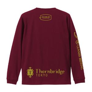HIGHBURYロングTシャツ(ボディ:バーガンディ ロゴ:ゴールド)