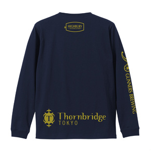 HIGHBURYロングTシャツ(ボディ:ネイビー ロゴ:ゴールド)