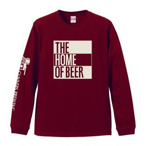 HIGHBURYロングTシャツ(ボディ:バーガンディ ロゴ:ホワイト)