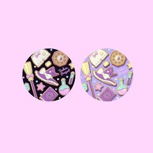 【缶バッジ】魔理沙イメージアイシングクッキー柄