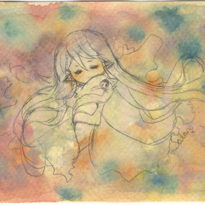 【ドローイング原画】「眠」