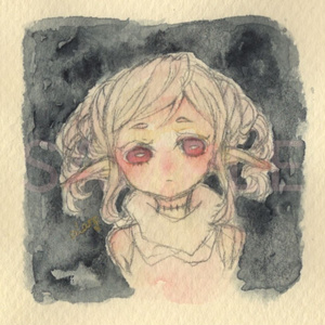 【イラストミニ原画】「虚」