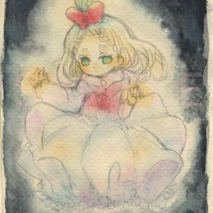 【イラスト原画】「蝋燭ケーキ」