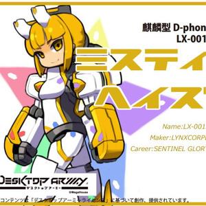 デスクトップアーミー オリジナル素体「麒麟型D-phone ミスティヘイズ」