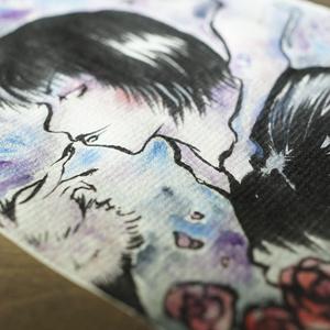 水彩手描き原画◆カバックのきまぐれ◆ポストカード