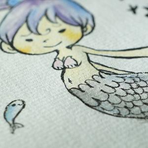 水彩手描き原画◆さかな◆ポストカード