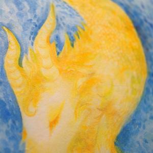 水彩手描き原画◆山羊座