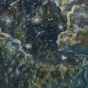 ATC原画「草原の夜空」