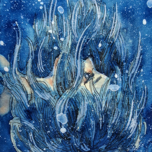 ATC原画「青のゆらめき」