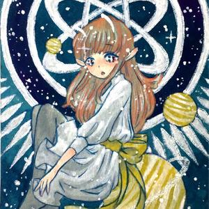 ATC原画「Space girl」