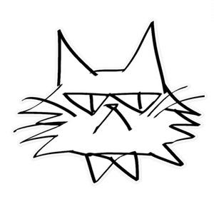 Sven画スウェーデン猫ステッカー