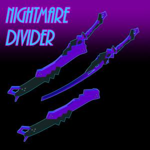 【VRC想定】NightmareDivider【刀3Dモデル】