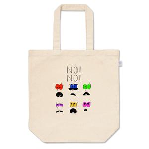 NO!NO!six shame facesトート カラフル