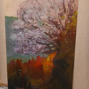 Cherry blossoms at sunset 【絵画原画】