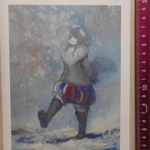 雪道 【小型絵画】
