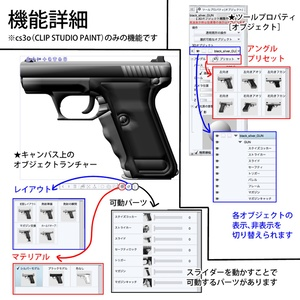 【3D素材】9mm口径自動拳銃