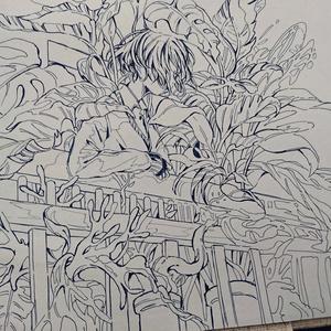 観葉植物(原画)
