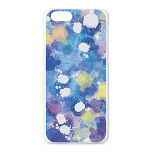 pink and blue +yellow iPhoneケース