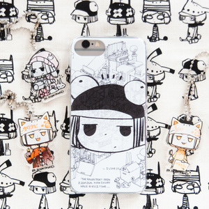 iPhoneケース(ペンギンちゃんでしゃばりバージョン)