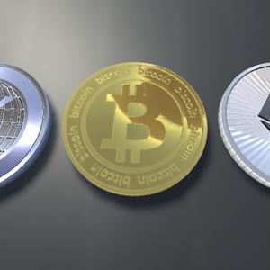 【3Dモデル】仮想通貨3種セット(BTC・ETH・XRP)