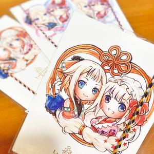 【チャーム付き】ボイロミサンガ+ポストカードセット