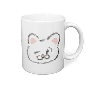 シロFaceマグカップ
