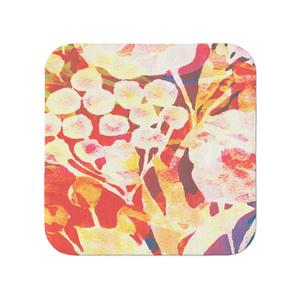 赤い花タオル