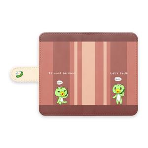 かっぱーず手帳型ケース赤【Android】