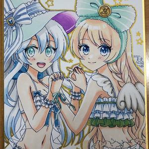 ミニ色紙(ガトリン&リルム)