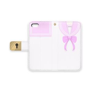 ピンクセーラー風 手帳型iPhoneケース