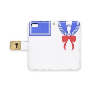 セーラー風 手帳型iPhoneケース