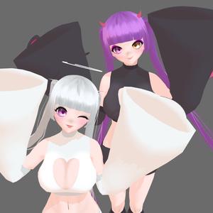 VRoid製モデル <天使ちゃんと悪魔ちゃん>