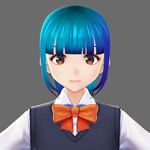 VRoid Studio 髪型プリセット 1つのフィッシュボーン