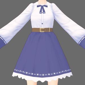 【VRoid】紺色ブラウス(VTuber鬱木陽子の服)【無料】