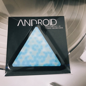 ANDR◯ID缶バッチ△単品売り