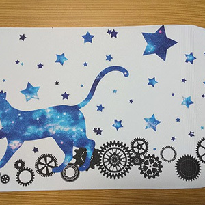 宇宙猫と歯車 ブックカバー