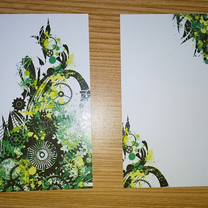 歯車パレード緑メッセージカード