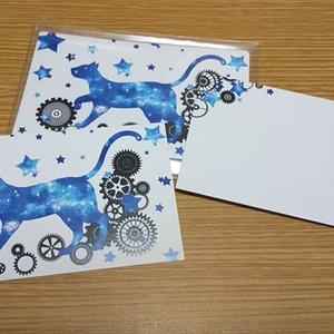 宇宙猫と歯車メッセージカード