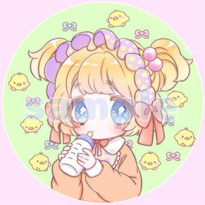 ファンシー缶バッチ(ひよこ)