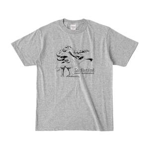 描き下しTシャツ(グレー)