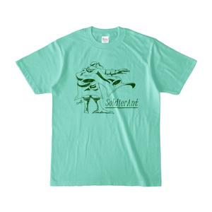 描き下しTシャツ(アイスグリーン)