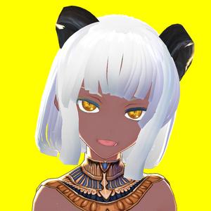 VRoid向けキャラクター3Dモデル日焼け肌 古代エジプト神話第②弾