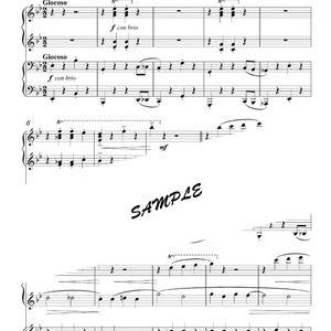 6匹の亀のための組曲より「腹ぺこのブーデー」【ピアノ連弾版】DL版