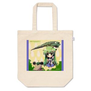 梅雨の早苗と謎の諏訪子さまトートバッグ