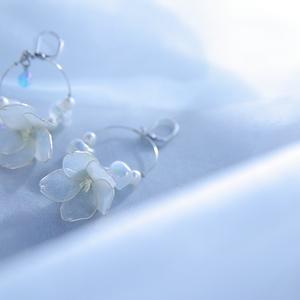 【らぶフェス雪祭】雪桜フープイヤリング