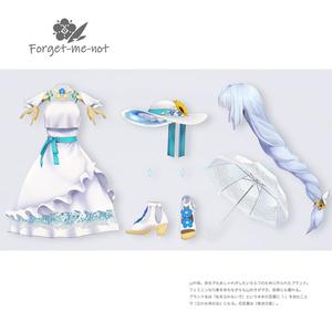 【VRC対応3D服飾モデル】Forget-me-not Resort Dress ver3.00